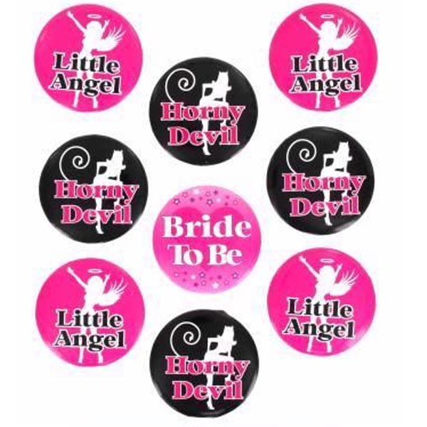 Angel Devil Badge Set