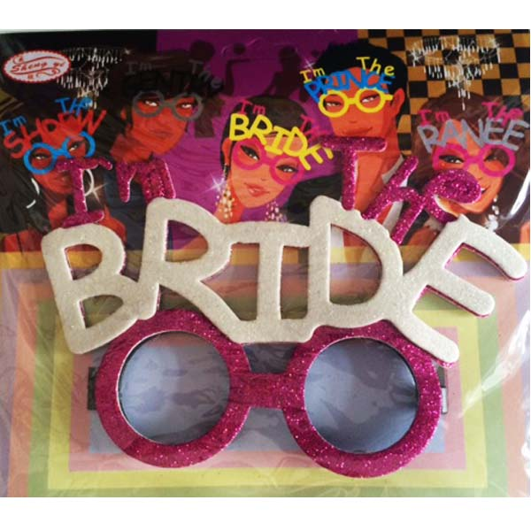 Glasses Glitter Bride to Be