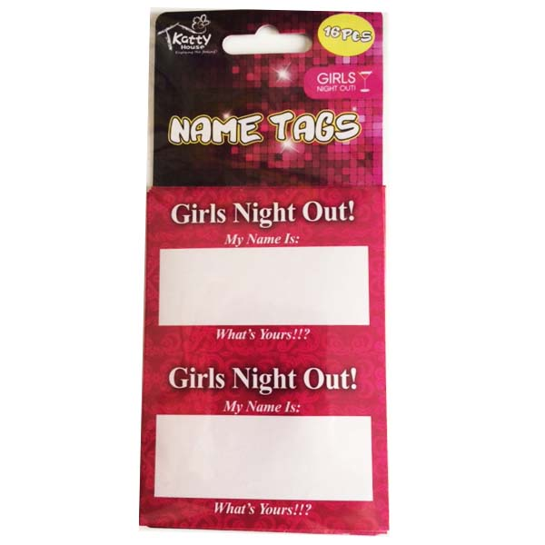 Name Tags Girls Night Out